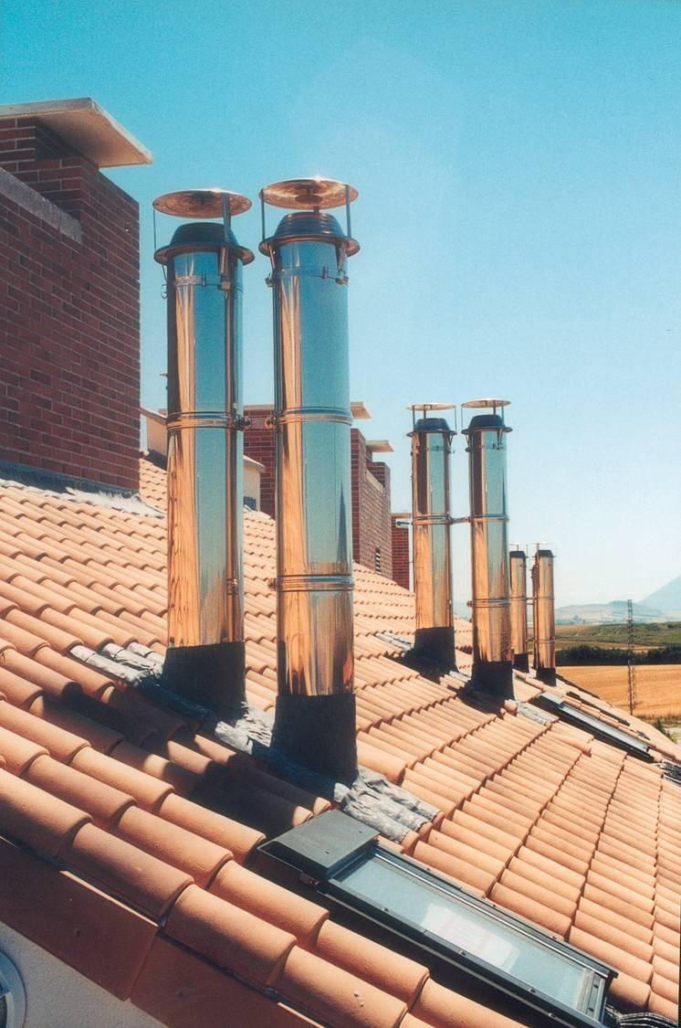 Chimeneasyconductos conductos de doble y simple pared - Tubos de acero inoxidable para chimeneas ...