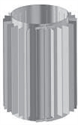 Foto Funda radiador para conducto evacuación de humos de