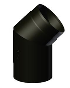 Foto Codo 45º registrable acero negro de