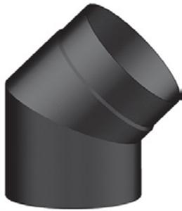 Foto Codo 45º acero negro de