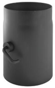 Foto Tramo con regulación de tiro acero negro de