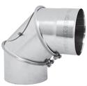 Foto Codo 90º registrable acero refractario de