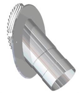 Foto Pasamuros 45º acero refractario de
