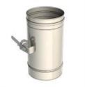 Foto Tubo recto con regulador de tiro incorporado en inox simple de